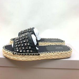 b3cfc046a Botkier Shoes - Botkier Julie Jeweled Stone Black Leather Sandal